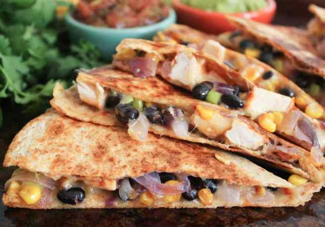Spicy-Chicken-Quesadillas-with-Corn-Black-Beans-and-Caramelized-Onions-7
