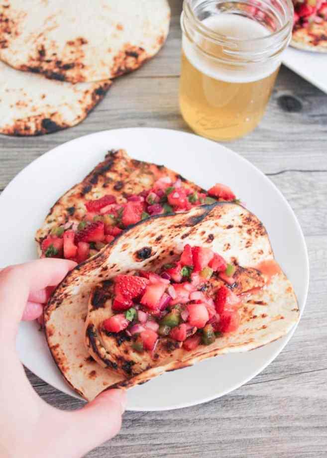 Cilantro-lima-pollo-con-fresa-jalapeño-Salsa-9