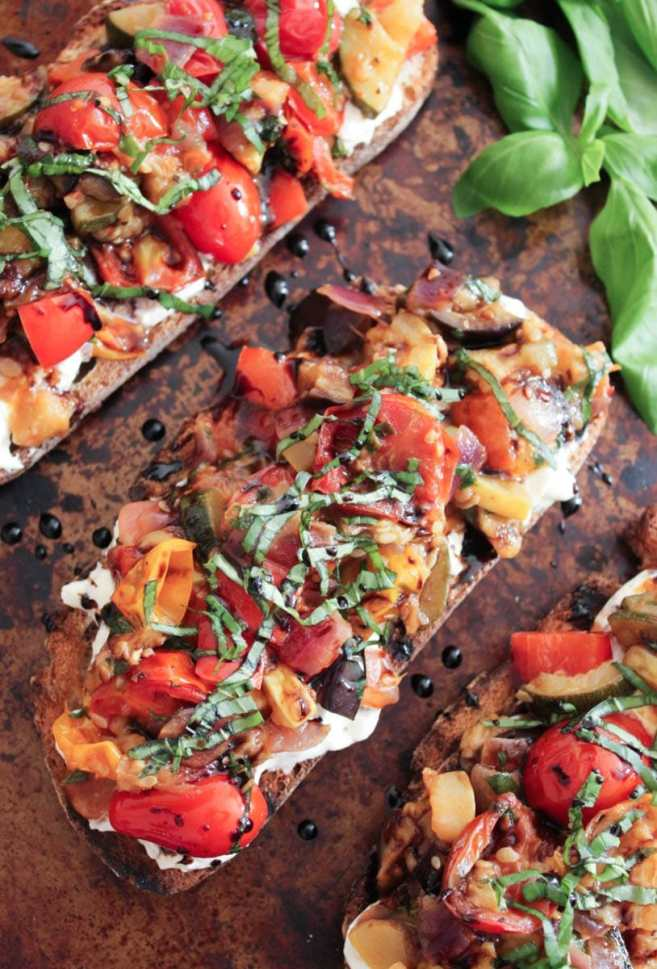 Ratatouille-Tartines-with-burrata-and-honey-balsamic-drizzle-2