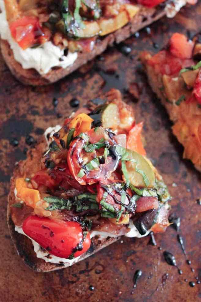 Ratatouille-Tartines-with-burrata-and-honey-balsamic-drizzle-6