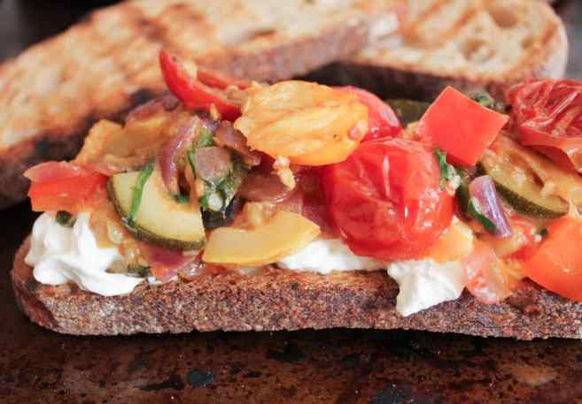 Ratatouille-Tartines-with-burrata-and-honey-balsamic-drizzle-step-10
