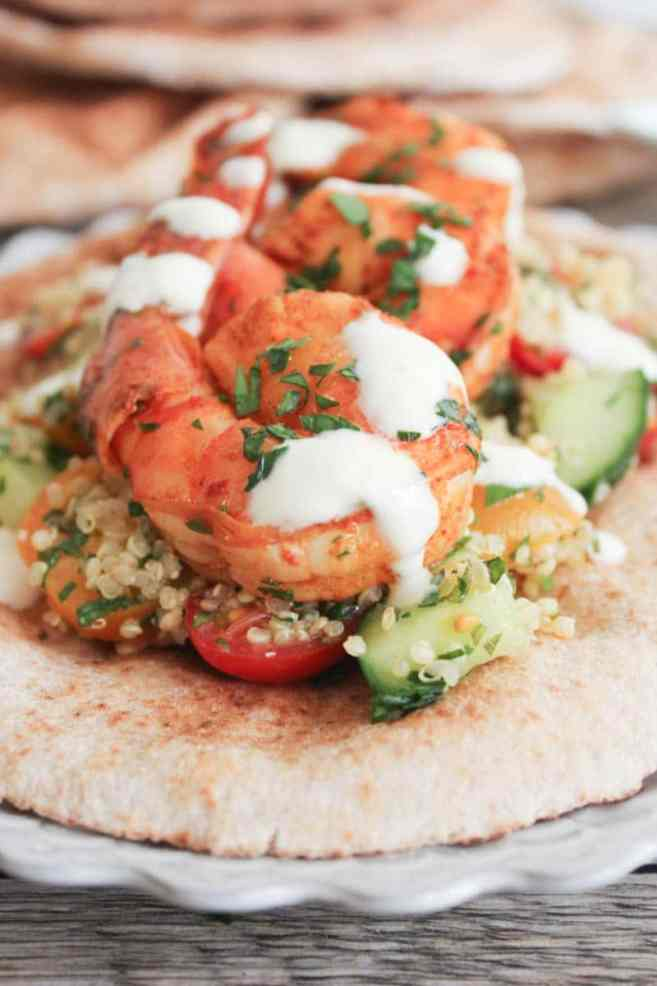 Smoky-Paprika-Grilled-Shrimp-with-Quinoa-Tabbouleh-and-Yogurt-Sauce-4