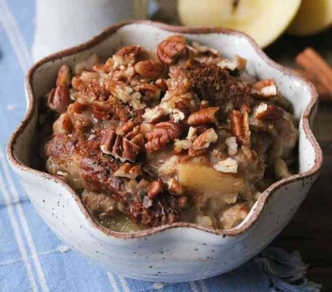 easy breakfast-slow-cooker-apple-pie-oatmeal-vegan-gluten-free-8