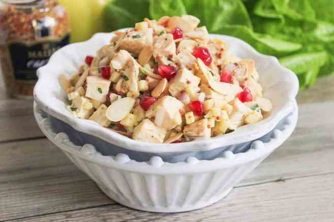 lemon-dijon-chicken-salad-with-pomegranate-and-toasted-almonds-7