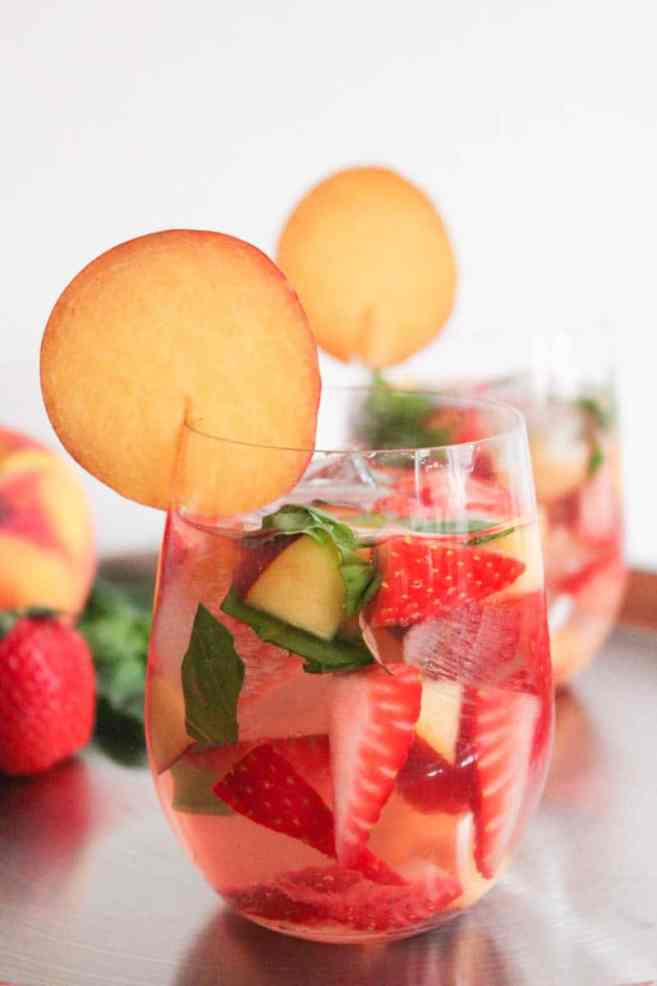 rose-sangria-peaches-strawberries-basil-champagne