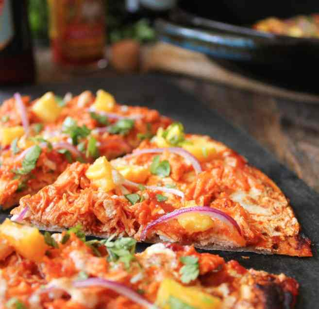 chipotle-chicken-tortilla-pizzas-with-pineapple-and-cilantro-6