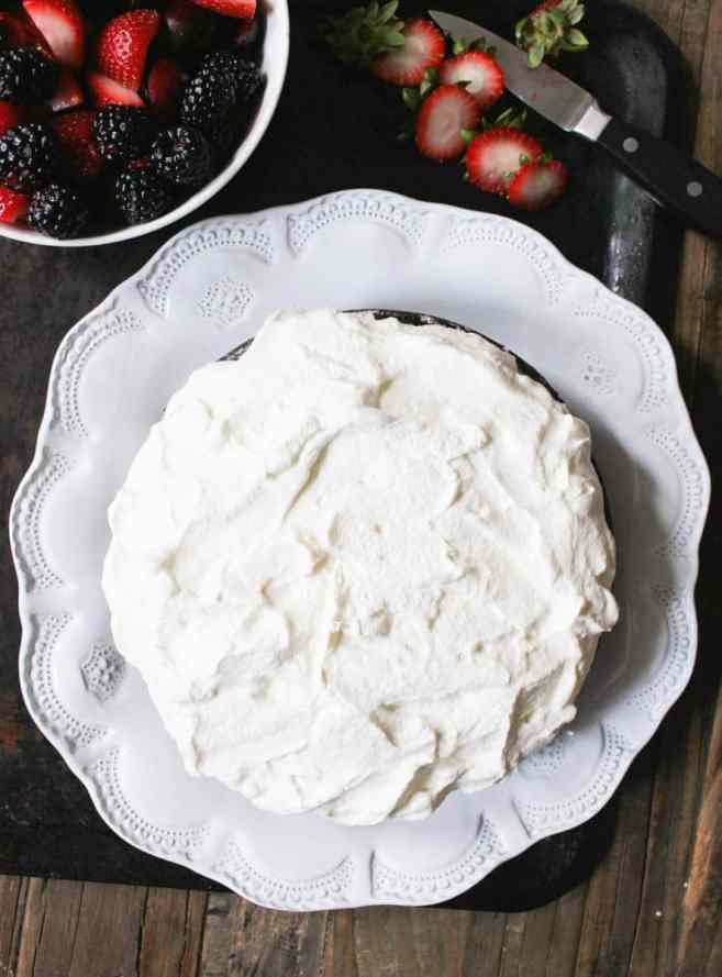 vegan-chocolate-cake-with-whipped-coconut-cream-and-fresh-berries-step-9