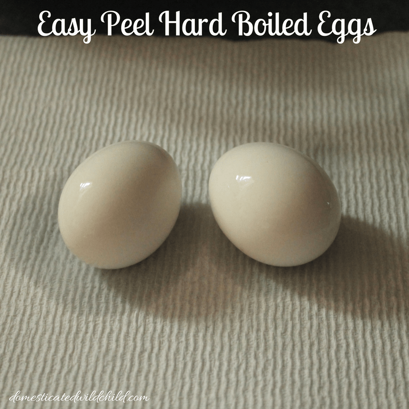Easy Peel Hard Boiled Eggs