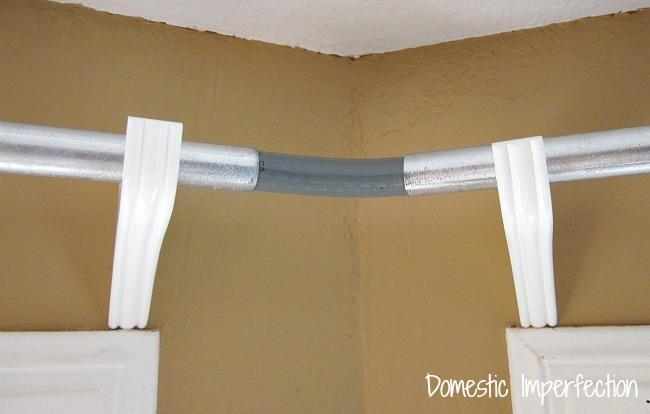 diy corner curtain rod
