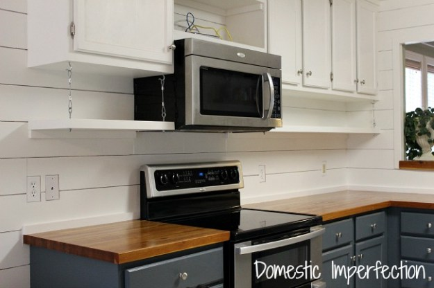 open kitchen shelving (!!!) - domestic imperfection