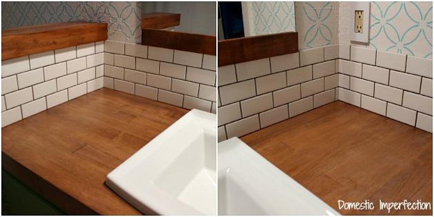 the easiest way to tile a backsplash