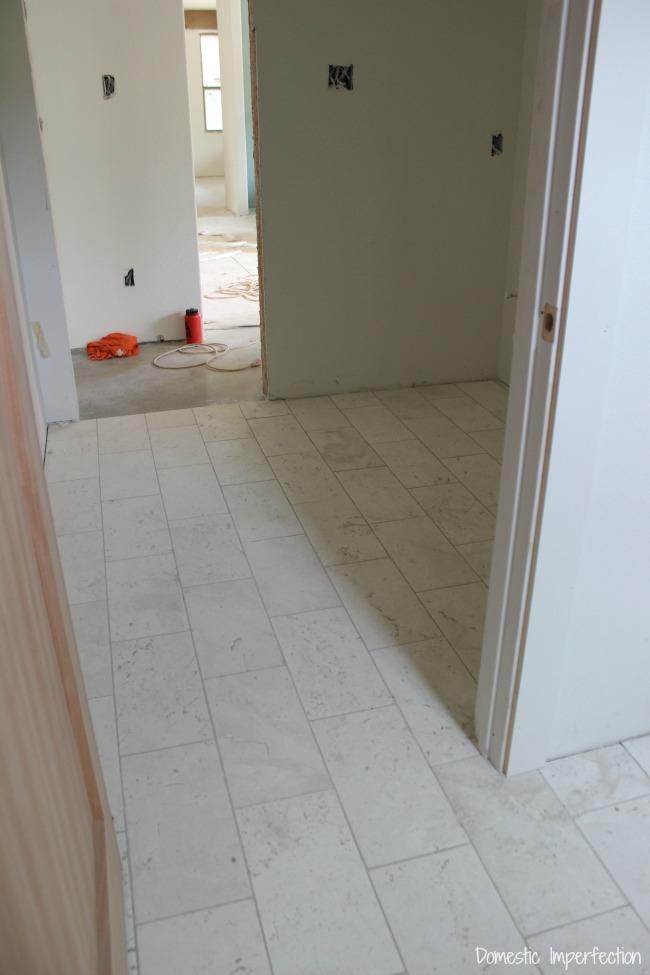 installed bathroom tile