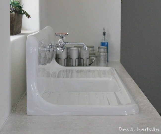 installing our highback drainboard sink