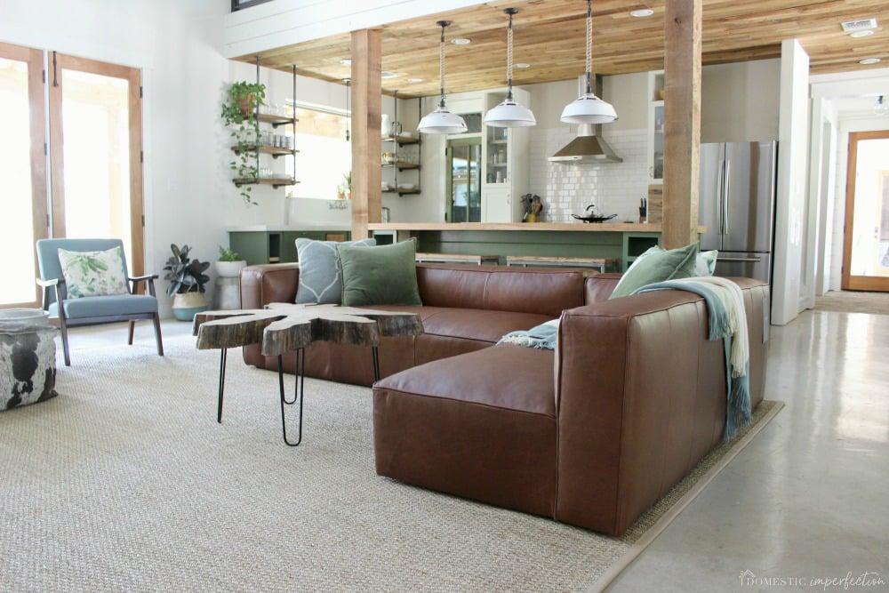 My New Article Leather Sectional And Why I Returned It Domestic Imperfection