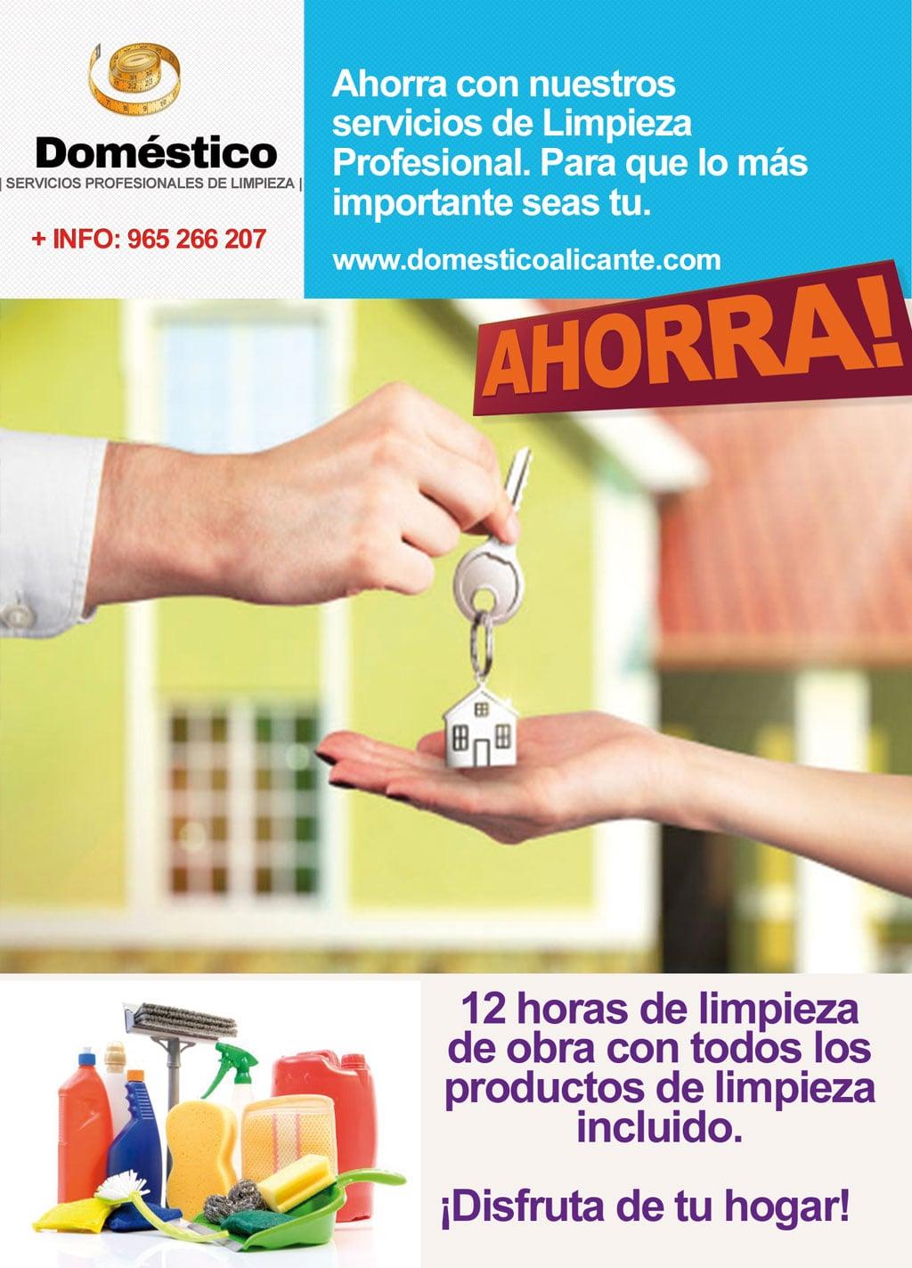 domestico-ofertas-obras Limpieza del Hogar - Doméstico Alicante