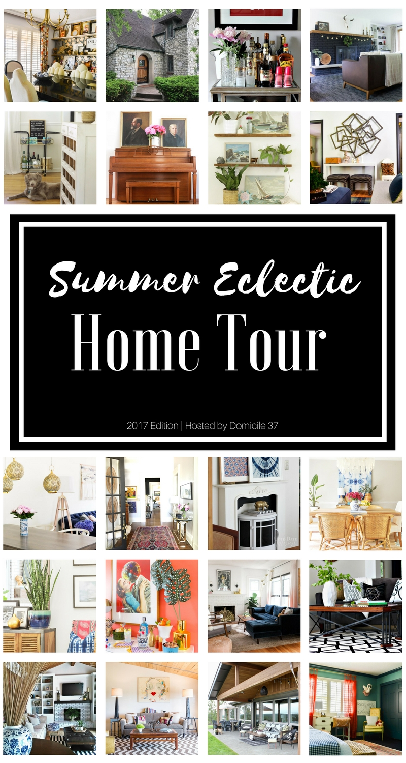 Summer 2017 Eclectic Home Tour | Eclectic Interiors | Eclectic Homes | Boho decor | Vintage Eclectic decor | Bold Geometric decor | Maximalist style | Vibrant decor