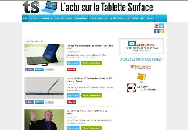 www.tablettesurface.fr