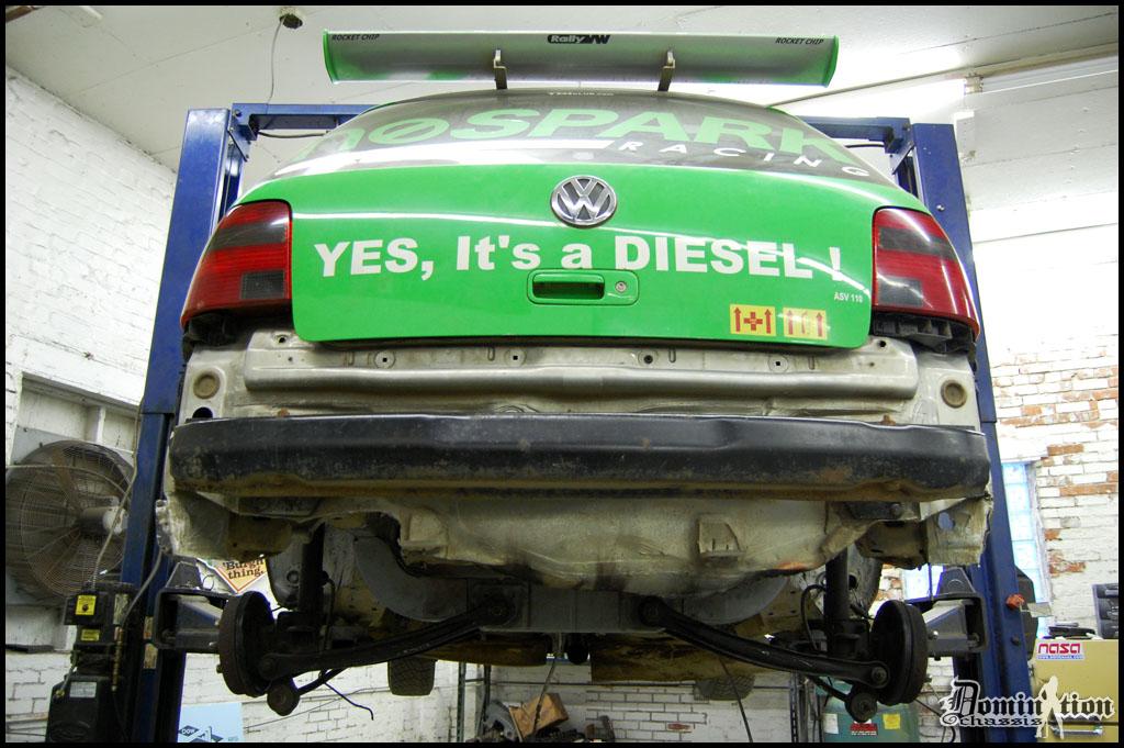 Rear Suspension Tacked In
