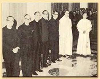 Pasteurs protestants avec Paul VI (10 avril 1970)