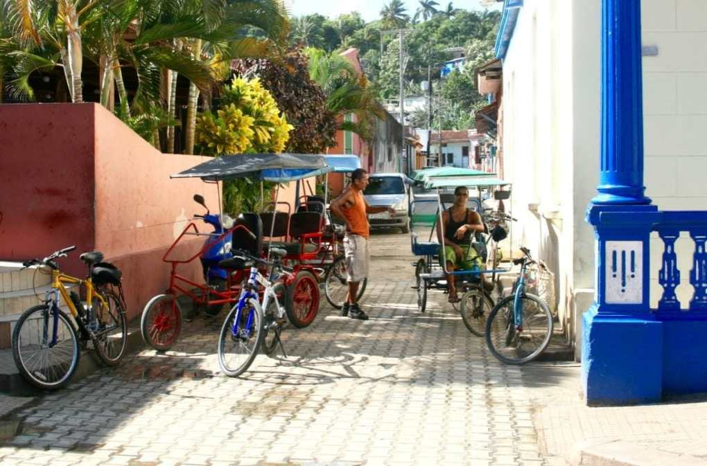 Baracoa, Cuba - Rickshaw bike cars