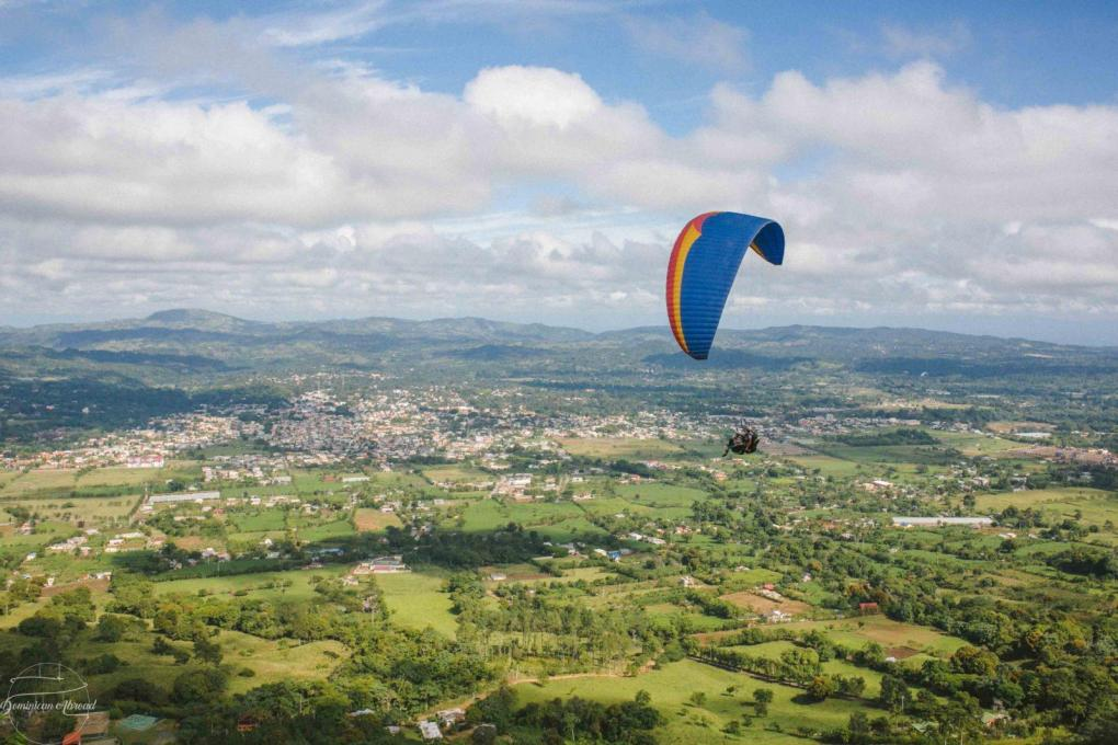 Paragliding above the Dominican Alps