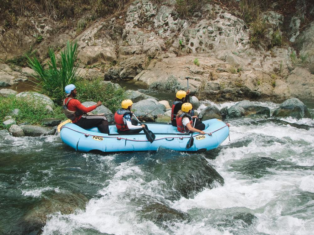 White water rafting in Jarabacoa.