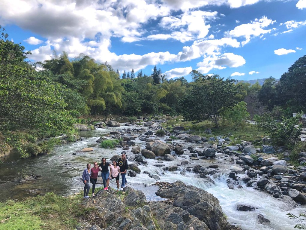 The beautiful Rio Jimenoa in Jarabacoa.