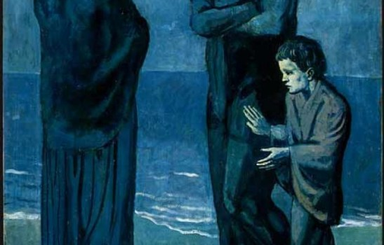 the tragedy by pablo picasso Pablo picasso blue period (1901-1904) and his paintings: hailed as a defining moment in pablo picasso's artistic career pablo picasso, the tragedy, 1903.