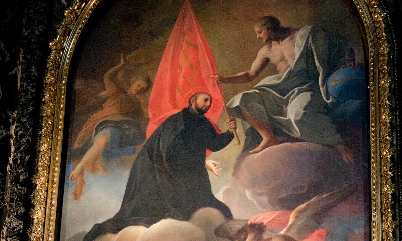 St Ignatius presents his Order to Christ
