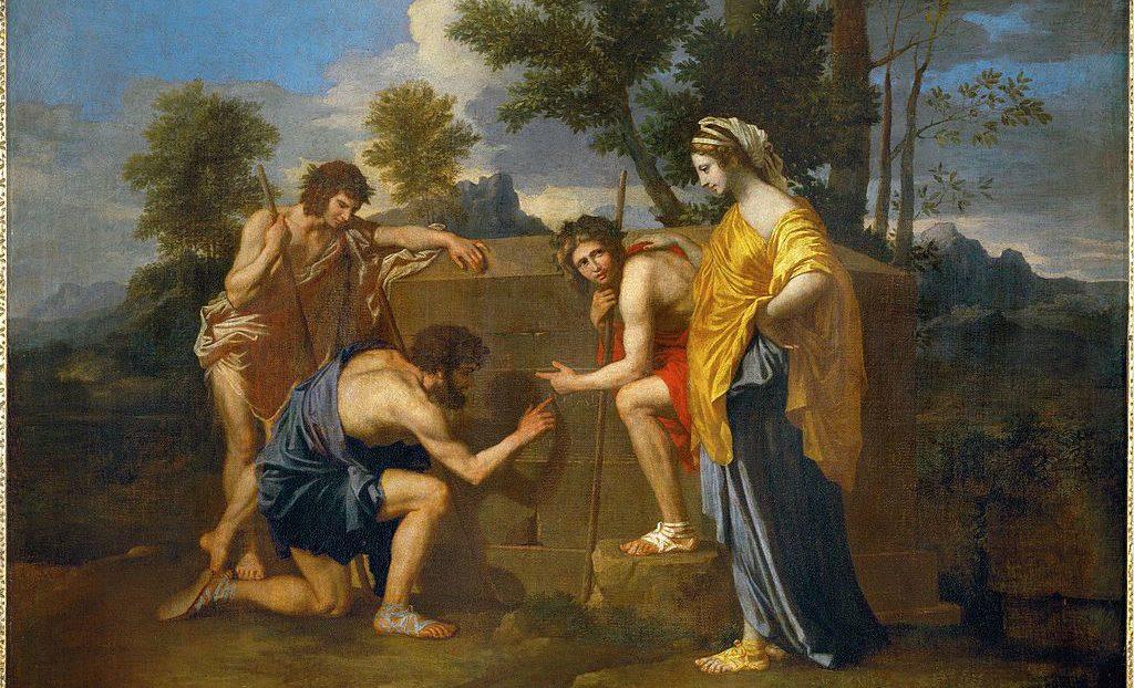 Image: Nicolas Poussin, Et in Arcadia ego.