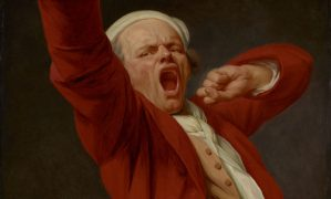 Joseph Ducreux (French, 1735 - 1802) Self-Portrait, Yawning, by 1783, Oil on canvas 117.8 × 90.8 cm (46 3/8 × 35 3/4 in.) The J. Paul Getty Museum, Los Angeles