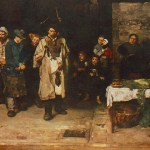 Mihaly Munkacsy, Drifters In The Night