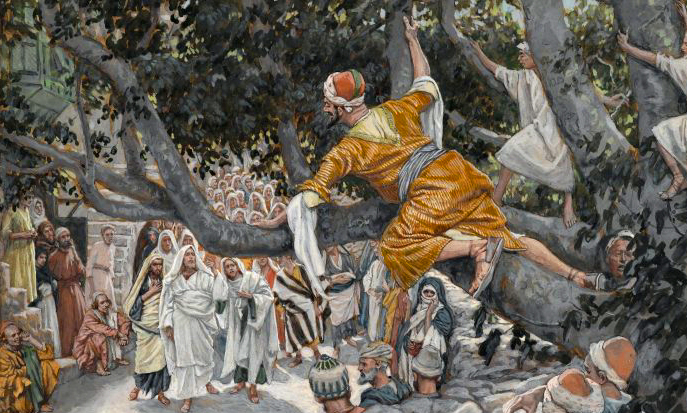 James Tissot, Zacchaeus in the Sycamore Awaiting the Passage of Jesus.