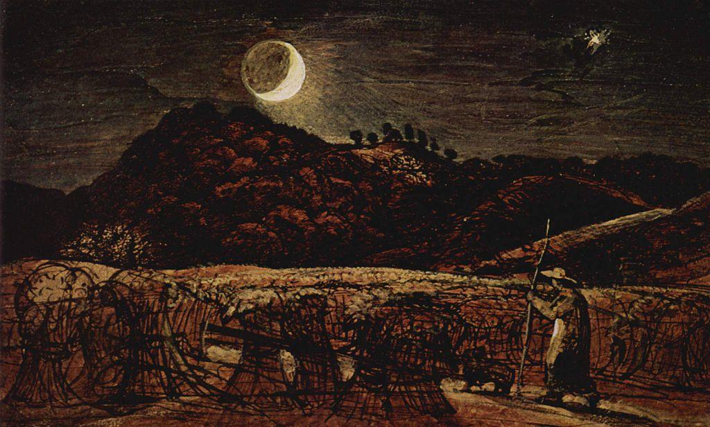 Samuel Palmer, Kornfeld im Mondenschein