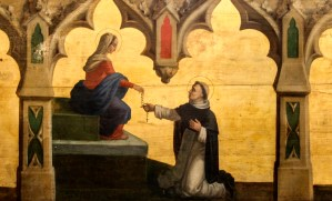 Fr. Lawrence Lew, O.P., Our Lady gives the Rosary to St Dominic