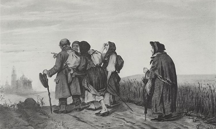 Vasily Perov, On a pilgrimage.