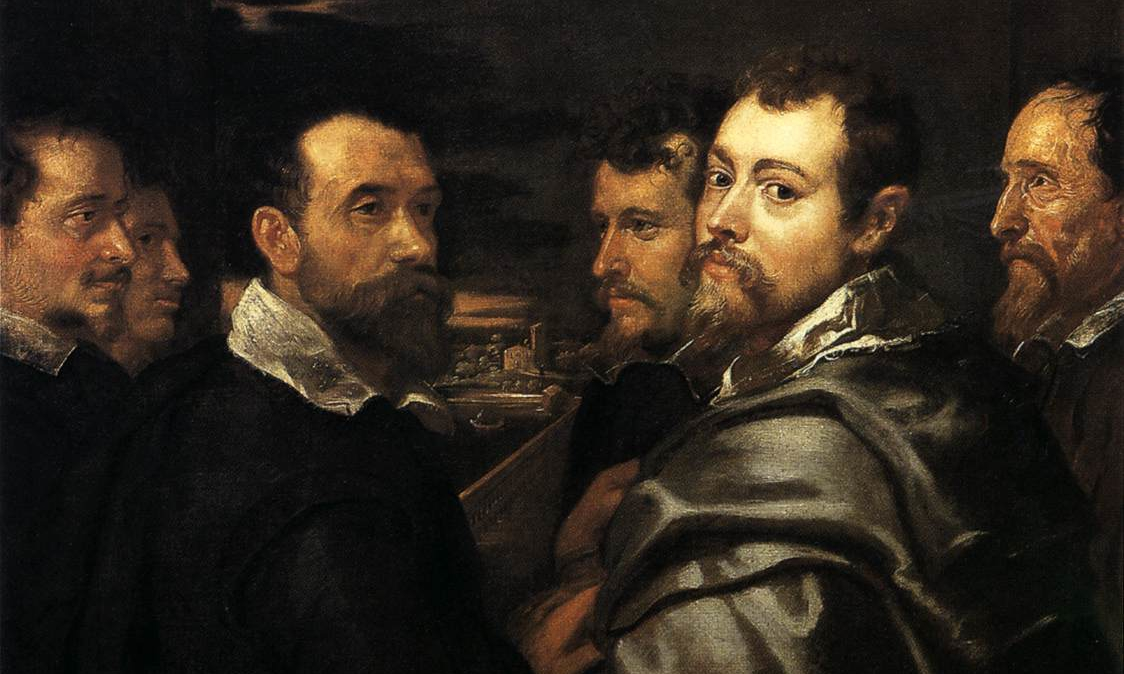 Peter Paul Rubens, Self-portrait in a Circle of Friends from Mantua