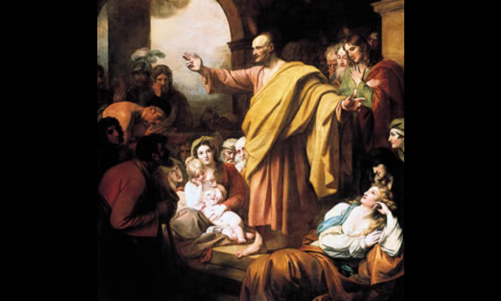 Image: Benjamin West, St. Peter Preaching at Pentecost