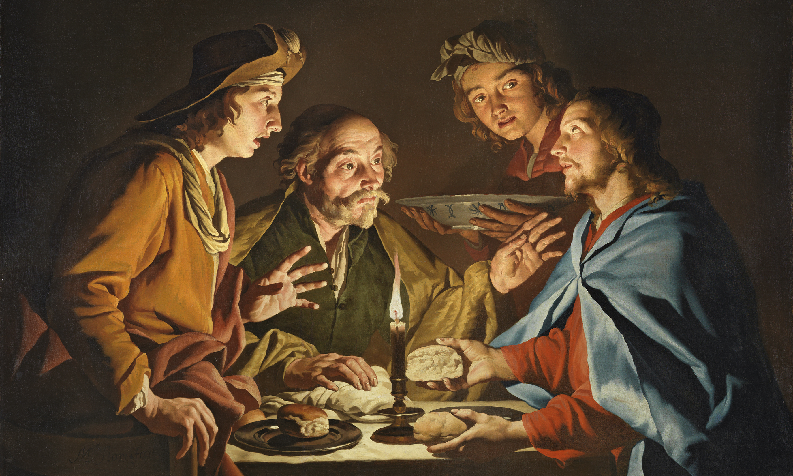 Matthias Stom, The Supper at Emmaus