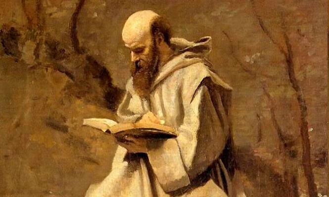 Jean-Baptiste Corot, Monk Reading