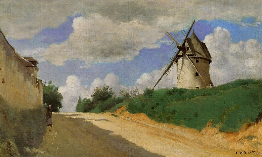 Camille Corot, Windmill on the Cote de Picardie, near Versailles