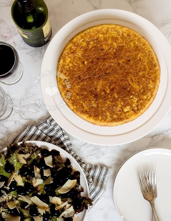 Easy Potato Tortilla Recipe (Omelette): If you are intimidated by the traditional one, this easy tortilla is for you. It's every bit as good as the Spanish one, and much lighter because it uses a fraction of the oil. Aunt Clara has written and tested Aunt Ilana's family recipe, a traditional Sephardi-Jewish dish from Morocco.