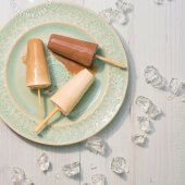 Chocolate, Coffee and Vanilla Popsicles