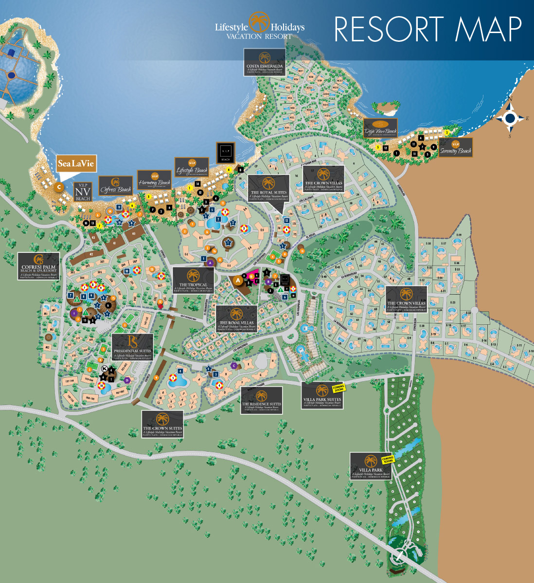 Lifestyle Holiday Vacation Club Resort Map