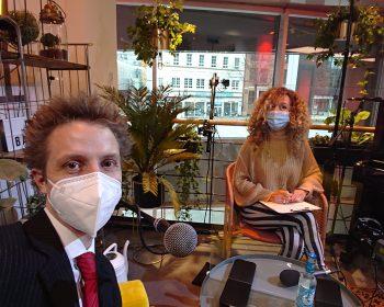 Dominic Blechert und Frau Freisinn beim Mini Balkon Event der HKBiS