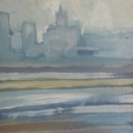 Liver building from the Wirral (April - three)