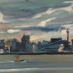 View of the Liverpool skyline from the Wirral (six)
