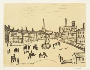 Tree in a Square 1969 by L.S. Lowry 1887-1976