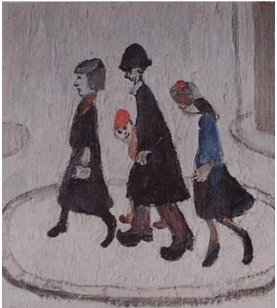 The Family Signed  by L.S. Lowry