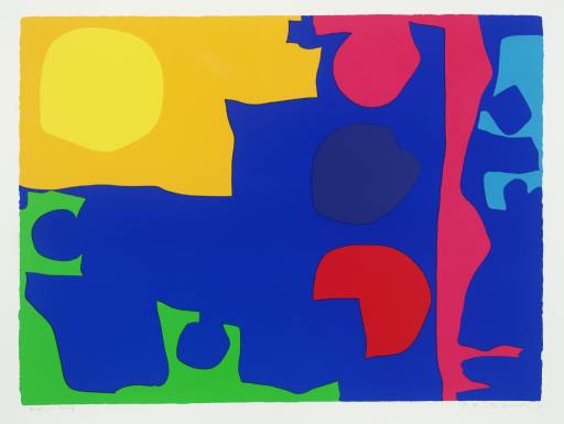 Eight Including Ultramarine Signed  by Patrick Heron